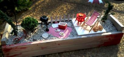Backyard BBQ Fairy Garden