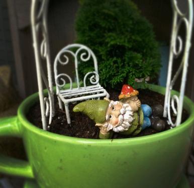 Perfect Cup of Tea Fairy Garden