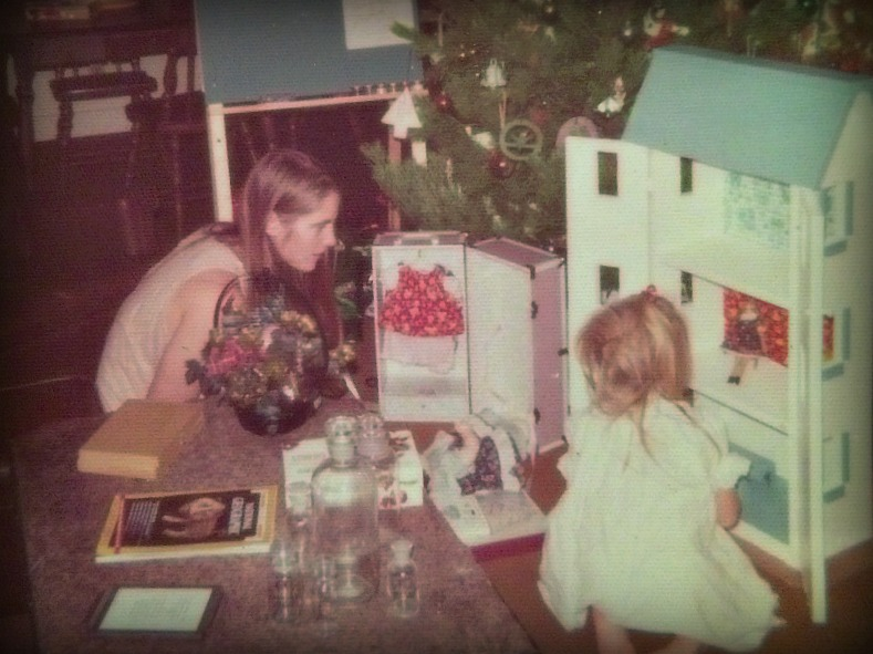 Christmas morning at the Powers house has always been about creative gifts and love. Don and Sue Powers (Sue pictured above at left) always made Christmas mornings special for their brood. Christmas morn 1973, Sue helps a 3-year-old Shelley with her new handmade dollhouse and handsewn doll clothes.