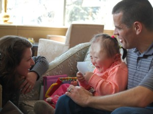 The Hillman Family gets to know one another just a few minutes after meeting in China.