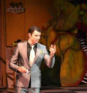"Jamie performs on stage in ""Little Shop of Horrors"" in Virgina."